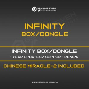 INFINITY BOX/DONGLE 1 YEAR UPDATES/ SUPPORT RENEW, CHINESE MIRACLE-2 INCLUDED