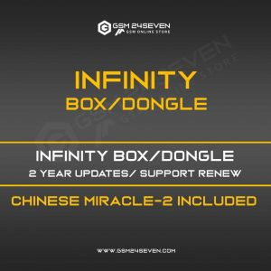 INFINITY BOX/DONGLE 2 YEAR UPDATES/ SUPPORT RENEW, CHINESE MIRACLE-2 INCLUDED