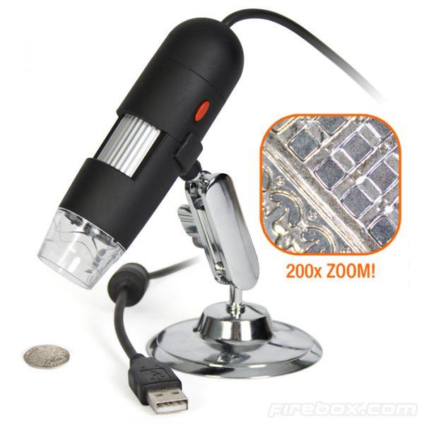 USB MICROSCOPE, 1000X ZOOM 8 LED USB 2.0 DIGITAL MINI MICROSCOPE