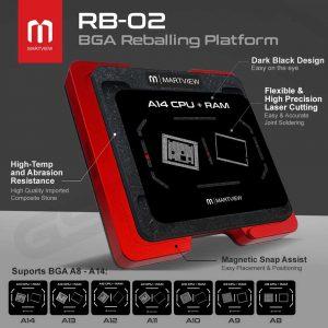 MARTVIEW RB-02 7IN1 CPU REBALLING STENCILS